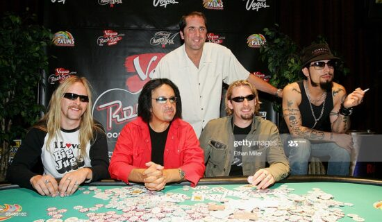 musicians playing poker